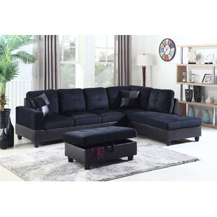 Black L-Shaped Sectionals You\'ll Love | Wayfair