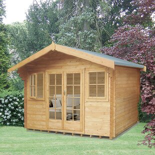 Pliner 12 X 10 Ft. Tongue And Groove Log Cabin By Sol 72 Outdoor