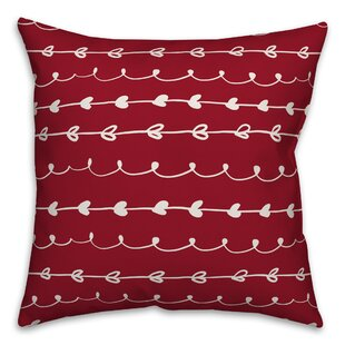 Omeara Valentines Doodles Throw Pillow