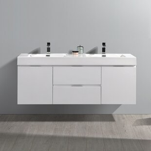 Coupon Senza Valencia 60 Wall Mounted Double Bathroom Vanity Set ByFresca