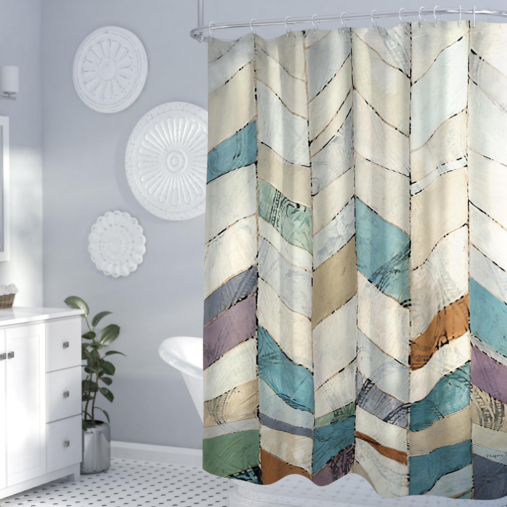 Latitude Run Gianfilippo Ii Single Shower Curtain Reviews Wayfair