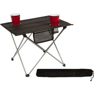 Marisela Portable Roll-up Lightweight Folding Aluminum Camping Table