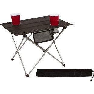 Marisela Portable Roll-up Lightweight Folding Aluminum Camping Table