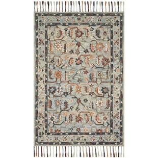 Bothell Hand-Hooked Wool Carbon/Brown/Gray Area Rug ByBungalow Rose