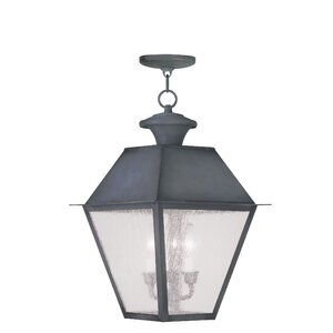 Cynda 3-Light Outdoor Hanging Lantern