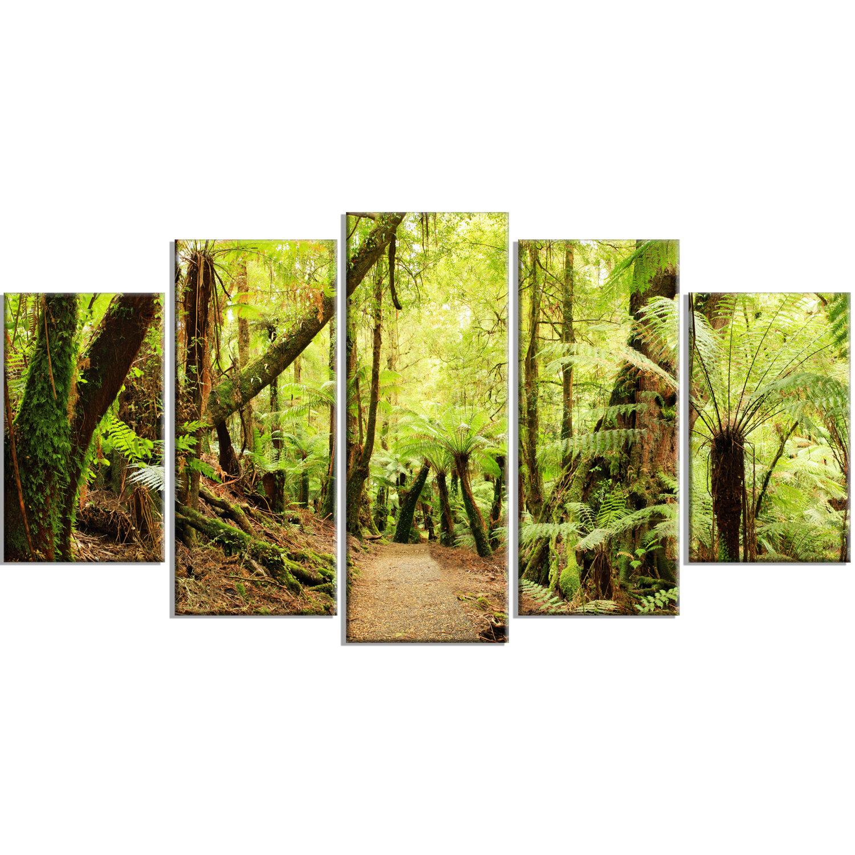 DesignArt \'Rainforest Panorama Landscape\' 5 Piece Wall Art on ...