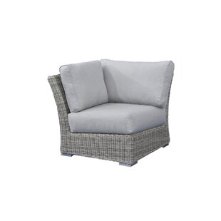 Norman Corner Sectional Patio Chair with Cushions by Bayou Breeze