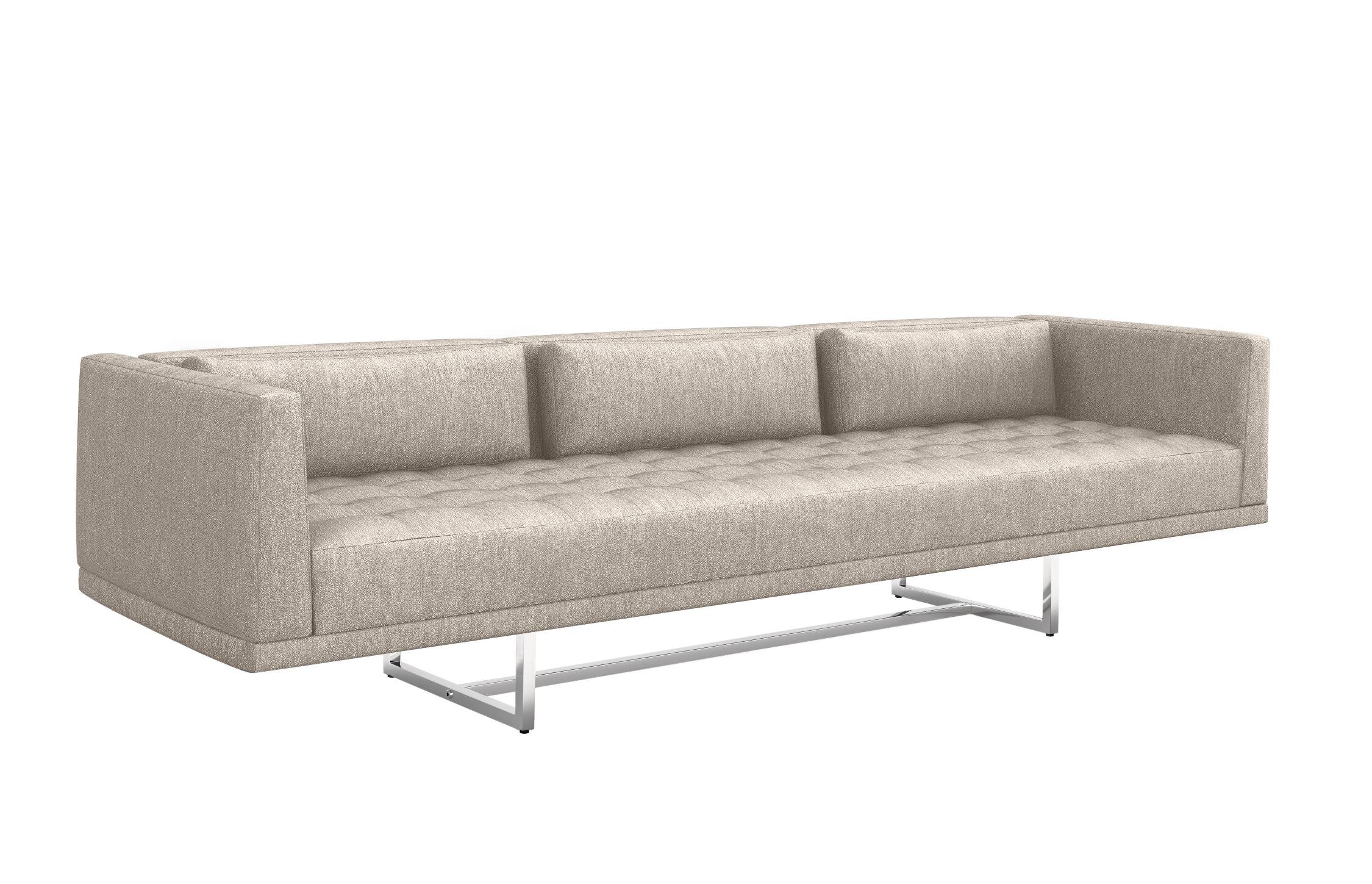 Interlude Luca 108 Square Arm Sofa Wayfair