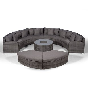 Woody 6 Seater Rattan Conversation Set Image