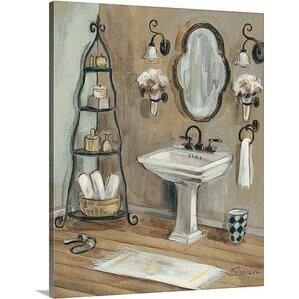 U0027French Bath Iu0027 By Silvia Vassileva Painting Print On Canvas. U0027