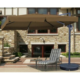 Blue Wave Products Santorini II 116.2' X 9.84' Square Cantilever Sunbrella Umbrella