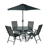 Ubon 5 Piece Dining Set with Umbrella