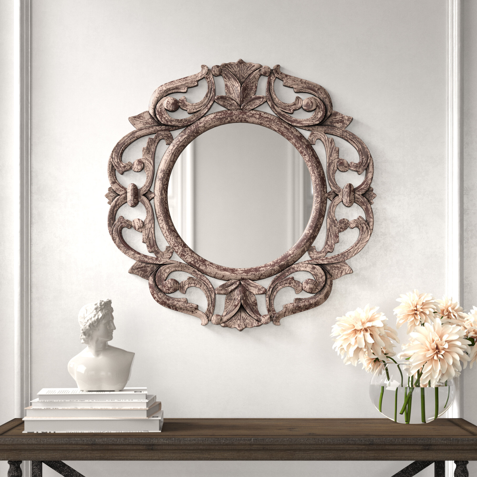 Kelly Clarkson Home Opus Traditional Distressed Accent Mirror Reviews Wayfair