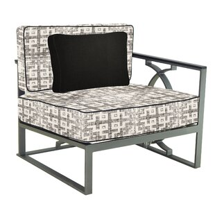 Leona Sunrise Left End Patio Chair with Cushion