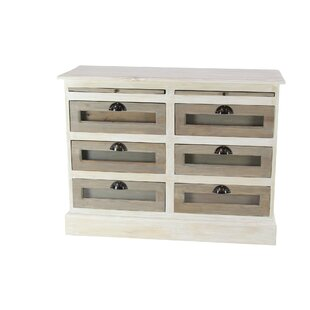 Camacho Contemporary Mahogany 6 Drawer Accent Chest