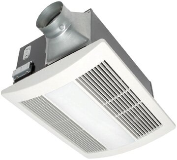 WhisperWarm 110 CFM Bathroom Fan/Heat/Light Combination