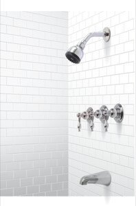 Wellington Tub and Shower Faucet with Lever Handles ByPremier Faucet