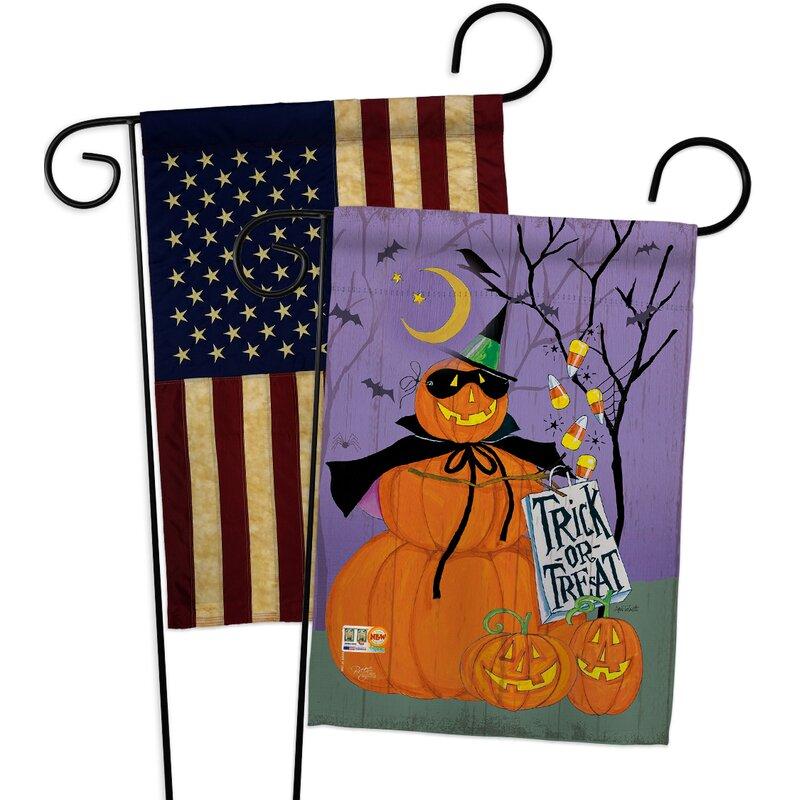 Breeze Decor Happy Pumpkin Trio 2 Sided Polyester 19 X 13 In Garden Flag Wayfair