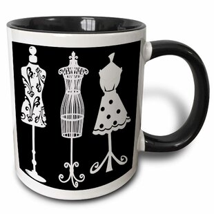 Pretty Womens Dress Forms in on a Background Coffee Mug