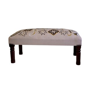 Wood and upholstered Bench