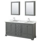 Deborah 72 Double Bathroom Vanity Set with Mirror by Wyndham Collection