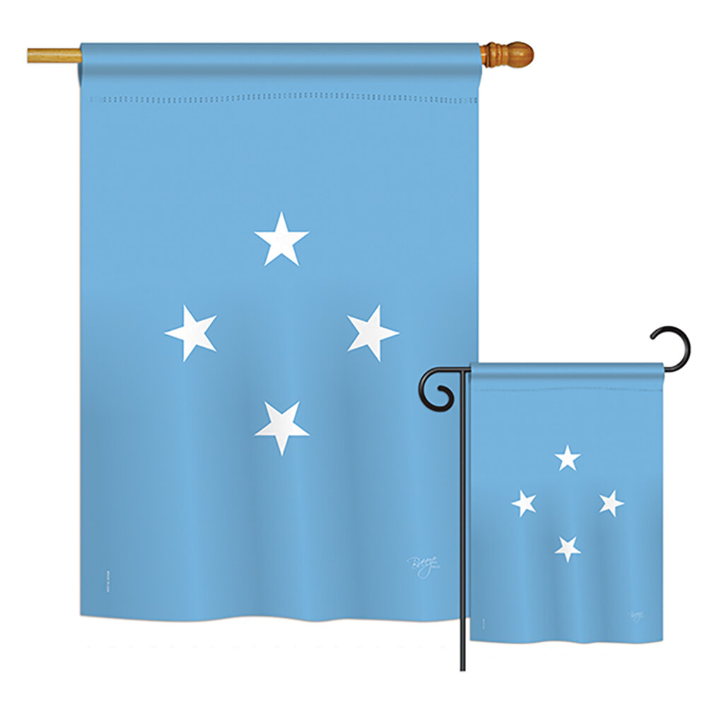 Breeze Decor Micronesia Of The World Nationality Impressions Decorative Vertical 2 Sided Polyester Flag Set Wayfair