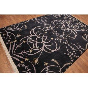 Affordable One-of-a-Kind Urbonaviciute Hand-Knotted Wool Black Area Rug ByRed Barrel Studio