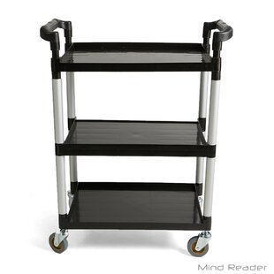 3 Tier Mobile Rolling Bar Cart with Handle by Mind Reader