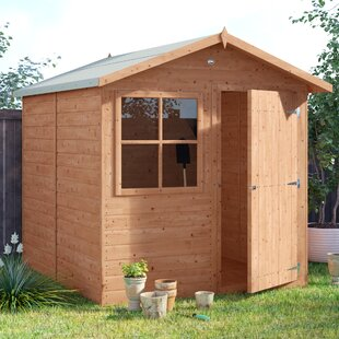7 Ft. W X 7 Ft. D Shiplap Apex Wooden Shed By Sol 72 Outdoor