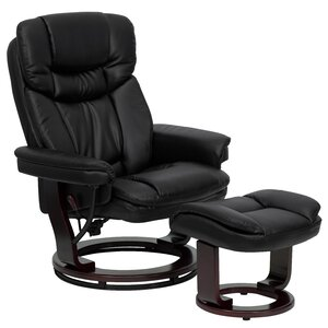 Winnols Manual Swivel Recliner with Ottoman