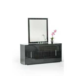 Marisol 6 Drawer Double Dresser with Mirror