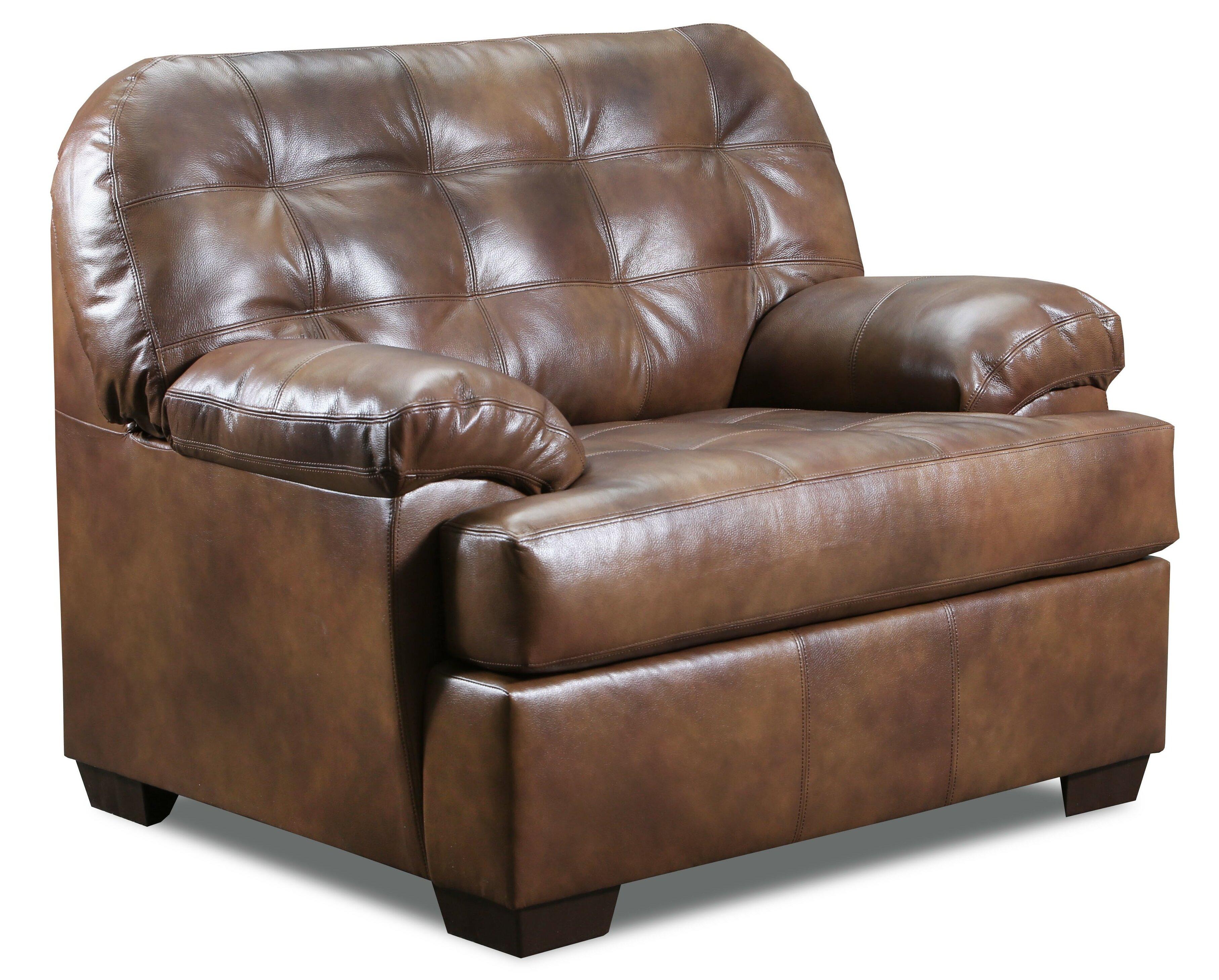 Top Grain Leather Match Armchair