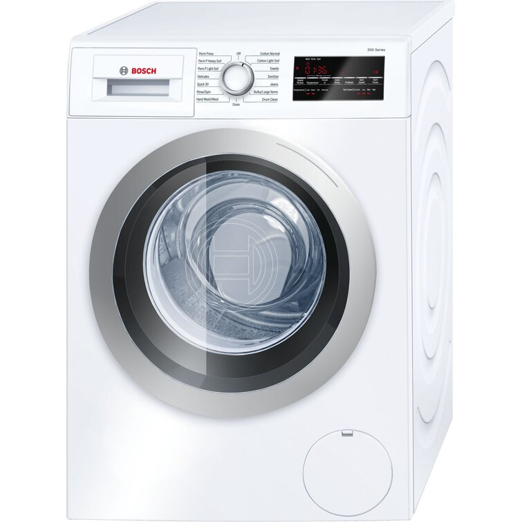 500 Series Bosch 2.2 Cubic Feet Cu. Ft. Energy Star High Efficiency Front Load Washer in White