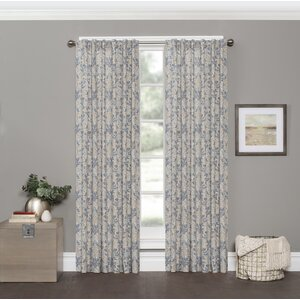 Smithwick Damask Room Darkening Rod Pocket Single Curtain Panel