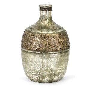 Kym Brown/Silver Glass Vase