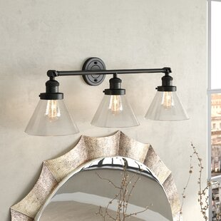 Andrade Cone 3-Light Vanity Light by Williston Forge