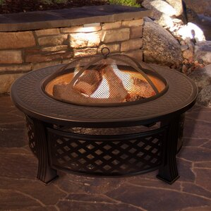 Round Steel Wood Burning Fire Pit Table