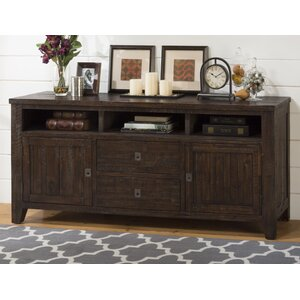 Cadwallader Acacia Wood TV Stand by Darby Home Co