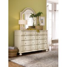 Sandcastle 8 Drawer Double Dresser with Mirror by Hooker Furniture