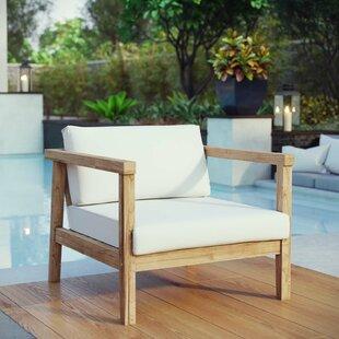 Edmeston Outdoor Teak Chair with Cushions