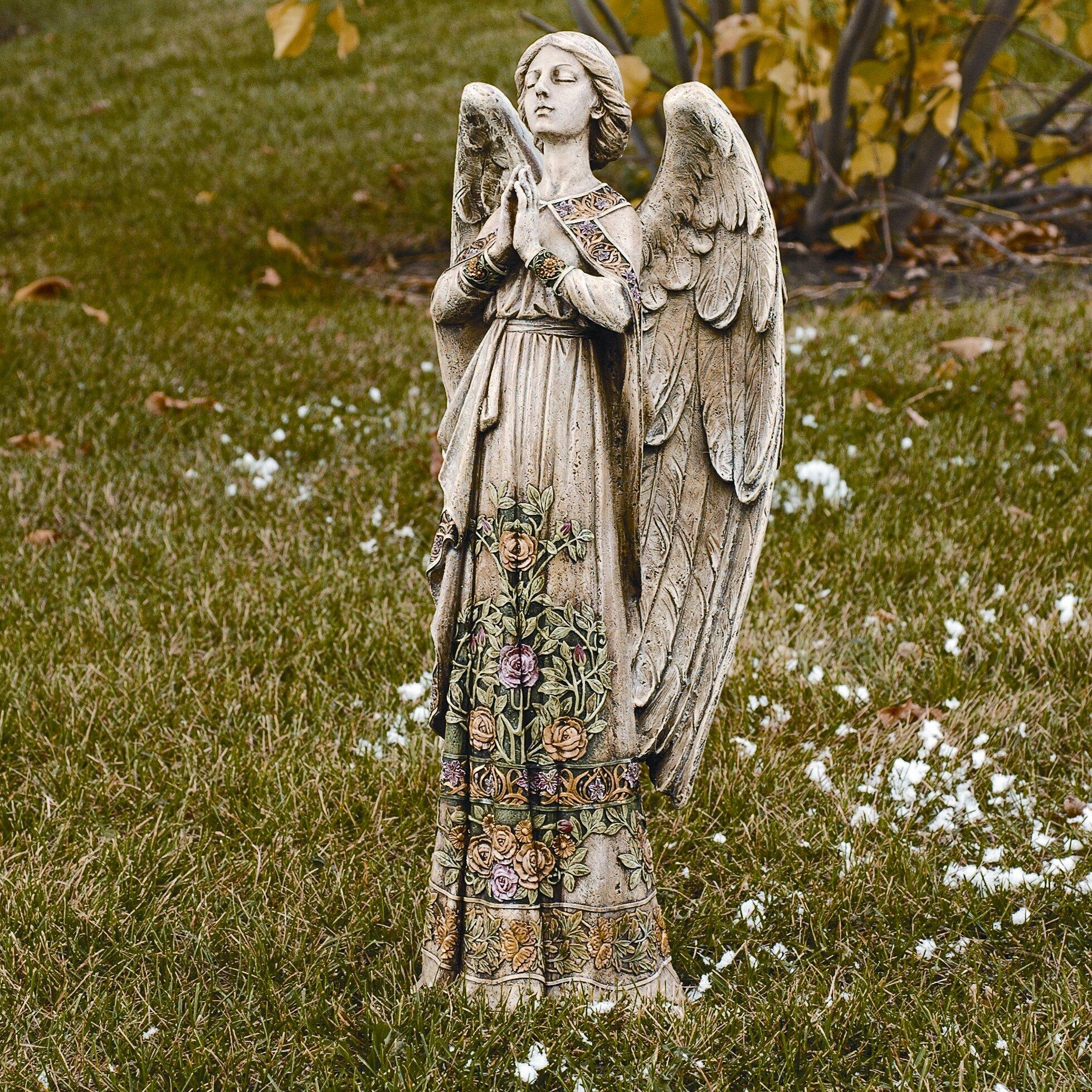 Roman, Inc. Praying Angel Garden Statue & Reviews   Wayfair