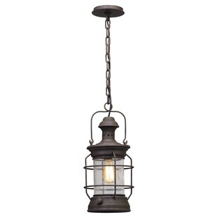 Price comparison Huxley 1-Light Outdoor Hanging lantern By Longshore Tides
