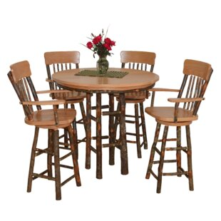 Yorba 5 Piece Solid Wood Dining Set