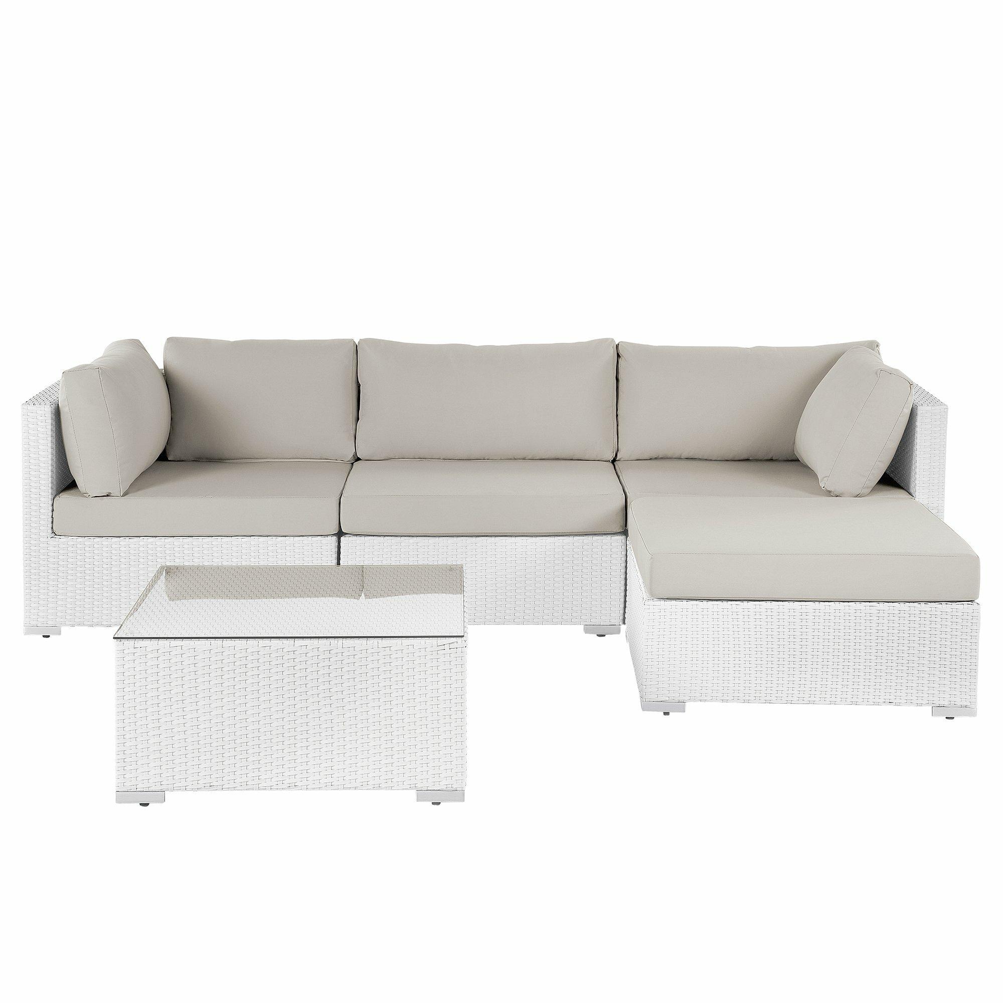 Waverly 4 Seater Rattan Corner Sofa Set