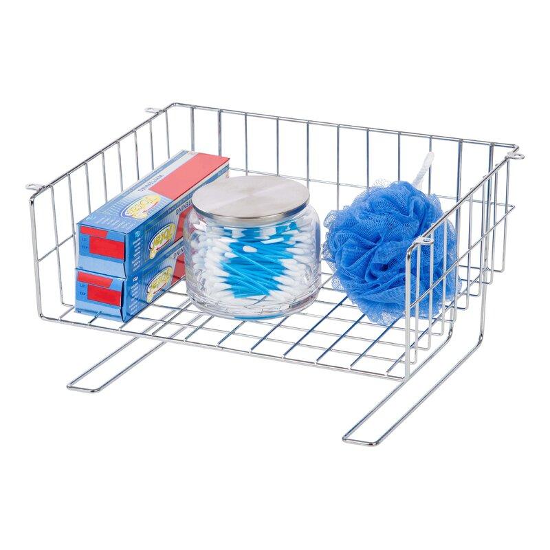 Under Cabinet Mountable Storage Wire Basket