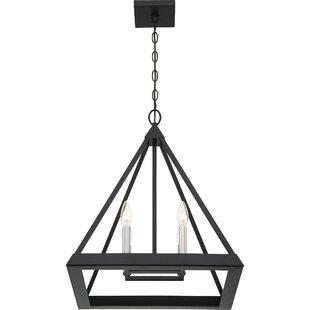 Roselee4-Light Geometric Chandelier by Wrought Studio