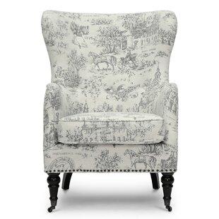 Baxton Studio Livingston Linen Colonial Print Armchair