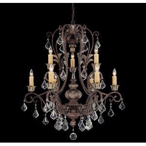 Elizabeth 9-Light Crystal Chandelier