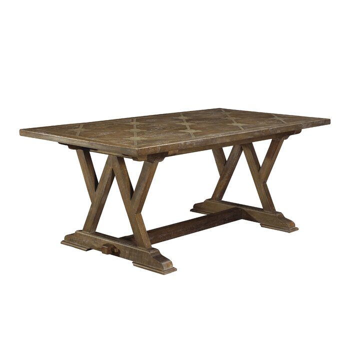 Loranger Cordoba Parquetry Solid Wood Dining Table