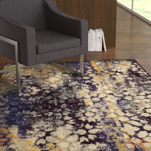 Alkire Navy Blue Area Rug by Ebern Designs